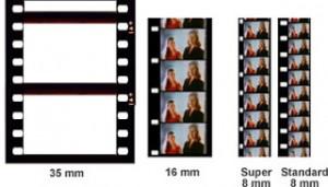 Cine film sizes, 8mm cine film, cine film transfer